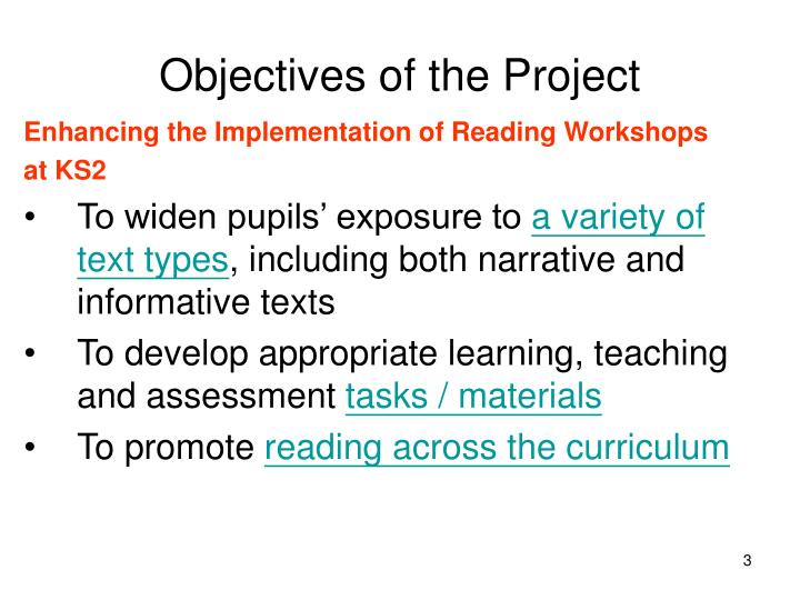 Objectives of the project3