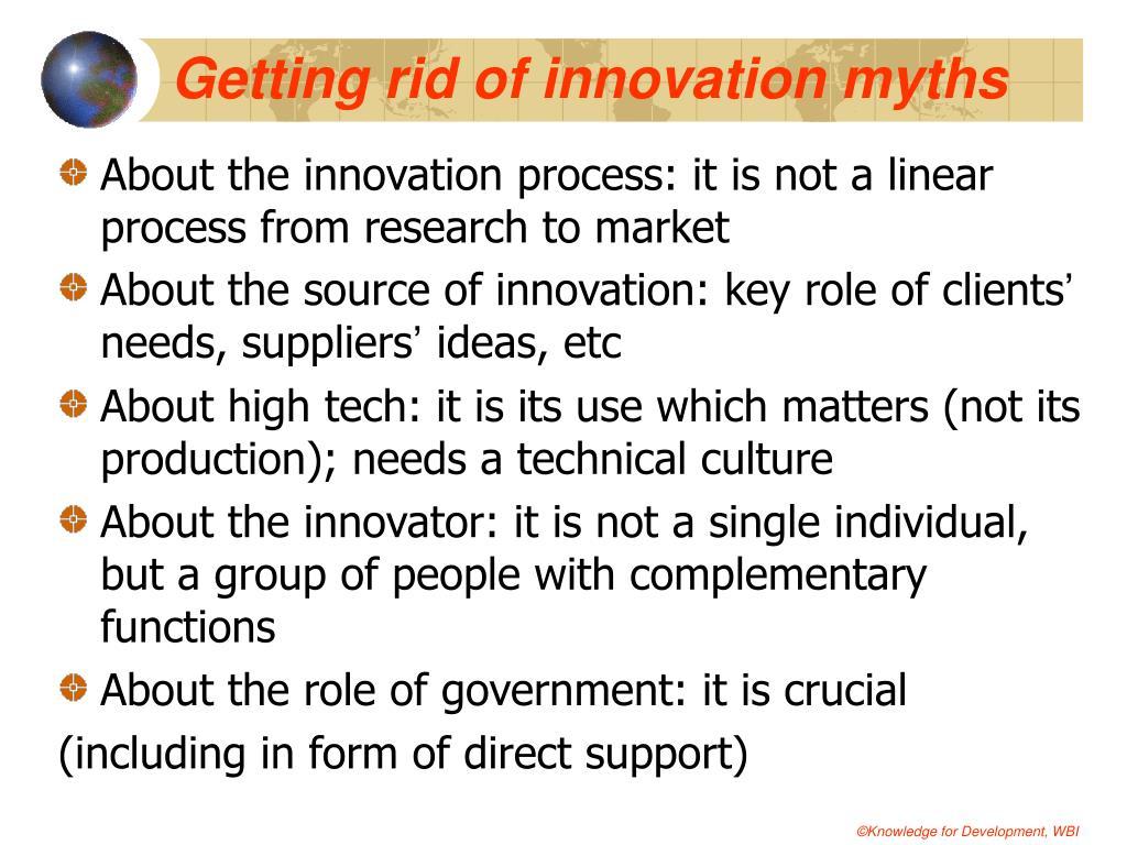 Getting rid of innovation myths
