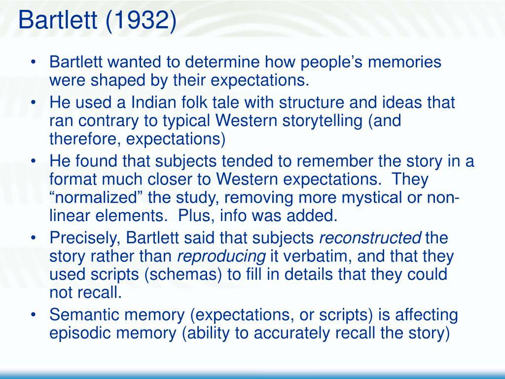 Bartlett (1932)