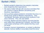 bartlett 1932