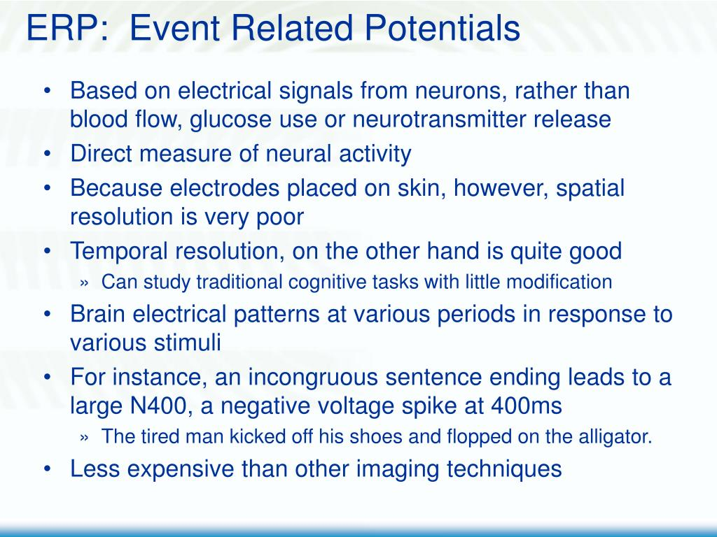 ERP:  Event Related Potentials