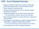 erp event related potentials