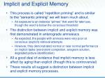 implicit and explicit memory44