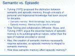 semantic vs episodic
