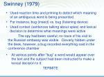 swinney 1979