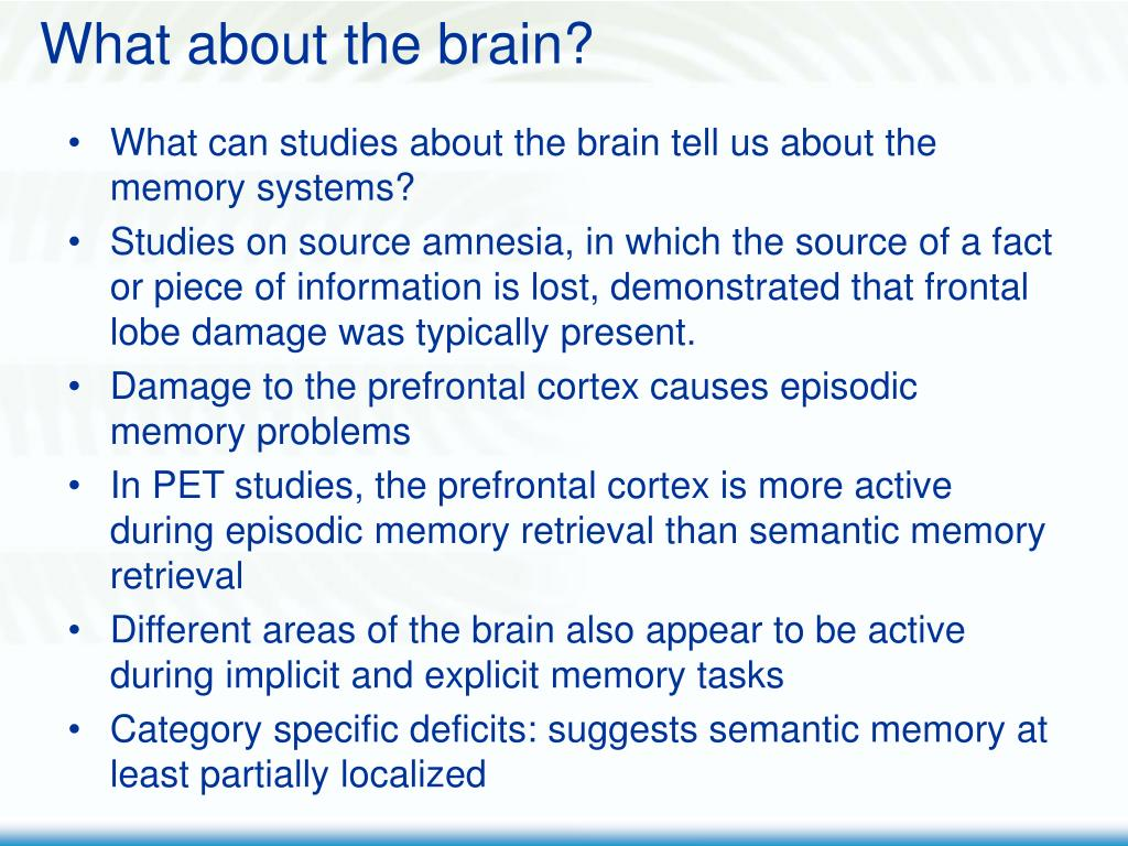 What about the brain?