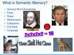 what is semantic memory9