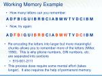 working memory example