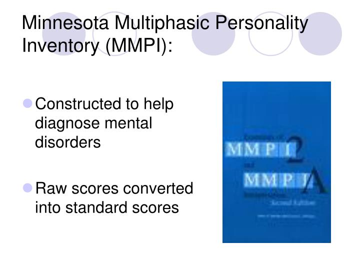 the minnesota multiphasic personality inventory essay Overview of the minnesota multiphasic personality inventory ii in fifteen pages this paper examines the mmpi ii in a consideration of.