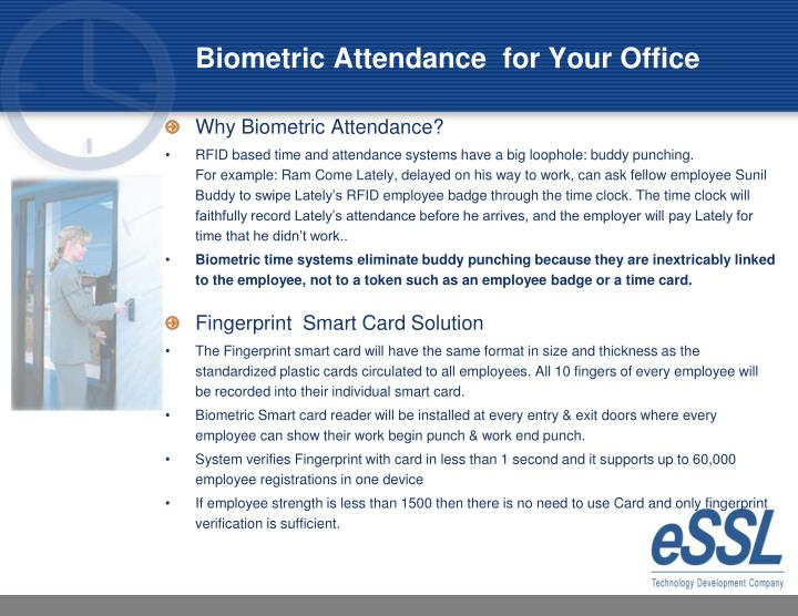 Biometric attendance for your office