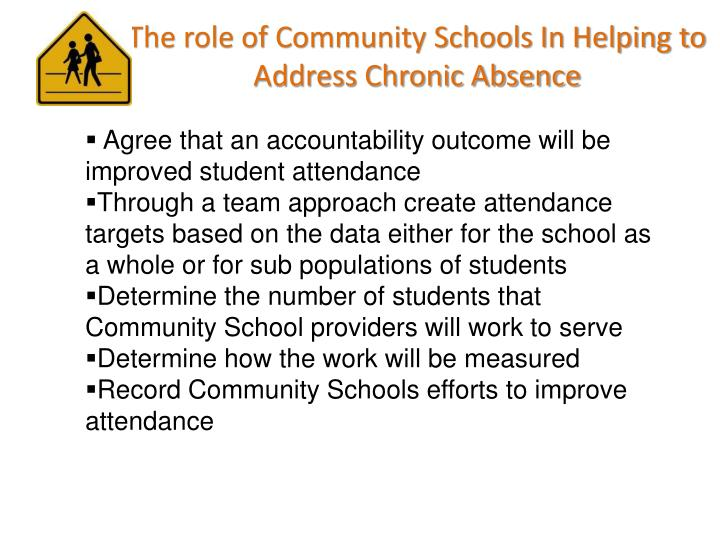 The role of Community Schools In Helping to Address Chronic Absence