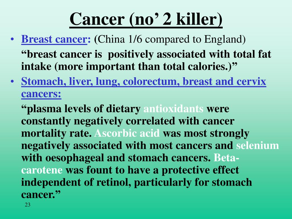 Cancer (no' 2 killer)