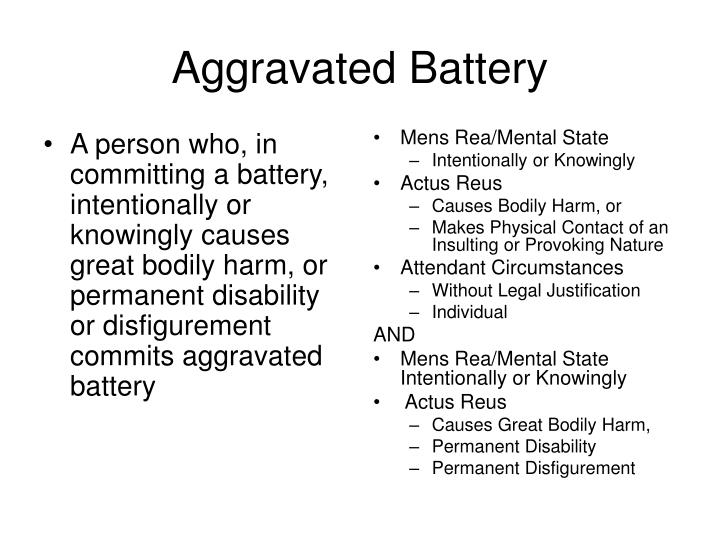 A person who, in committing a battery, intentionally or knowingly causes great bodily harm, or permanent disability or disfigurement commits aggravated battery