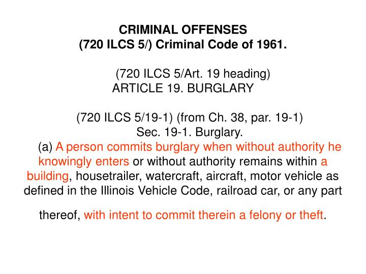CRIMINAL OFFENSES