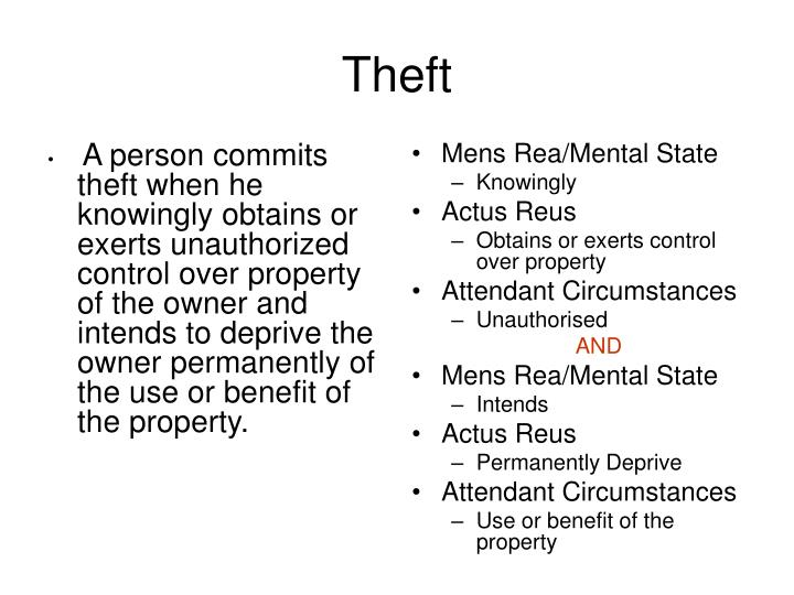 A person commits theft when he knowingly obtains or exerts unauthorized control over property of the owner and intends to deprive the owner permanently of the use or benefit of the property.