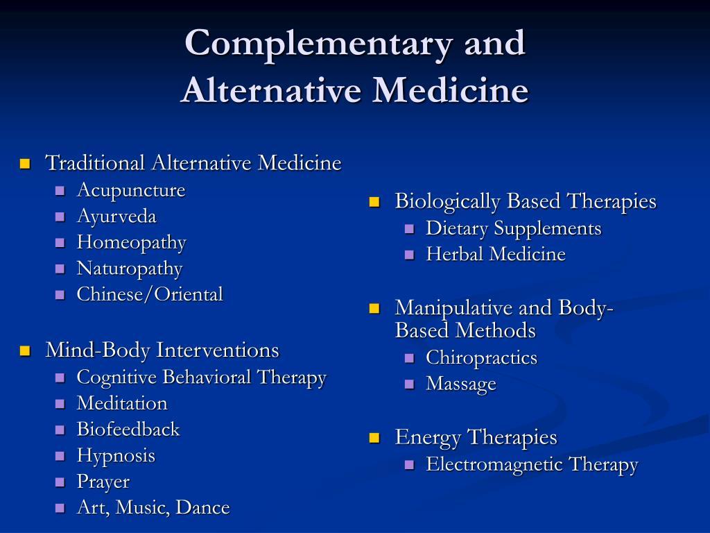 Traditional Alternative Medicine