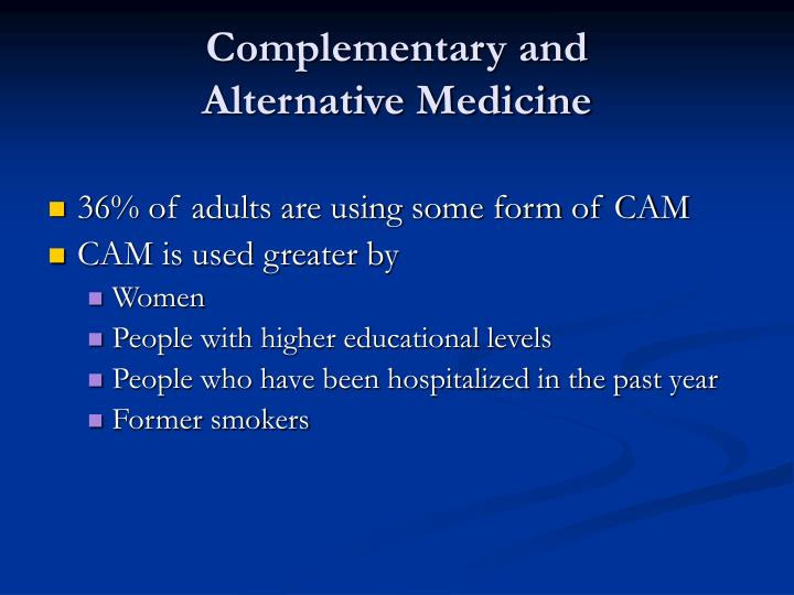 Complementary and alternative medicine3