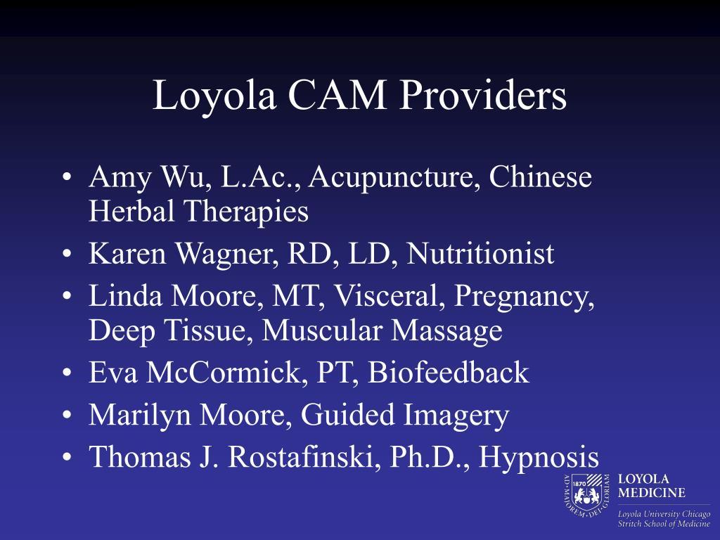 Loyola CAM Providers