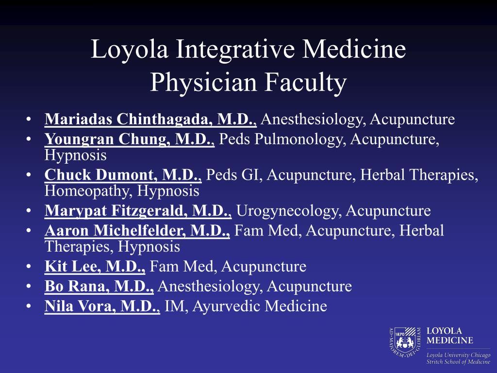 Loyola Integrative Medicine Physician Faculty
