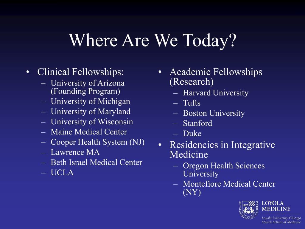 Clinical Fellowships: