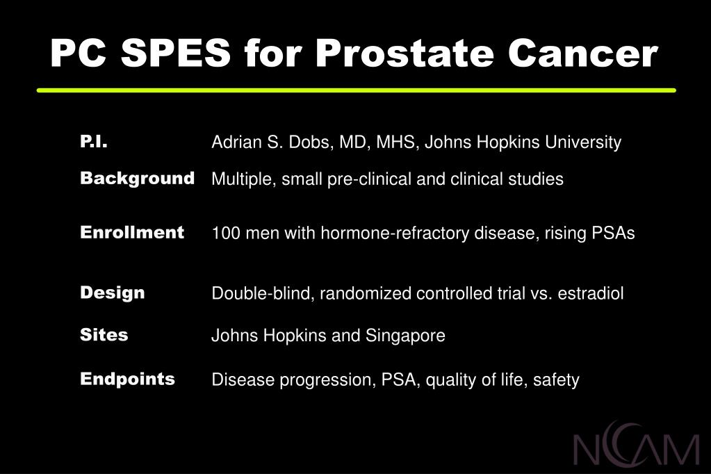 PC SPES for Prostate Cancer