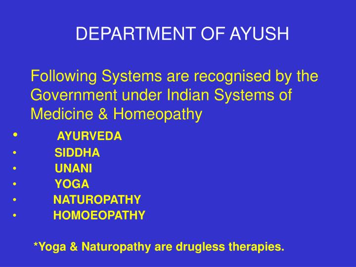 DEPARTMENT OF AYUSH