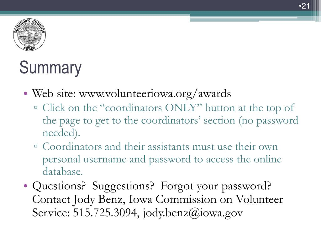 Web site: www.volunteeriowa.org/awards