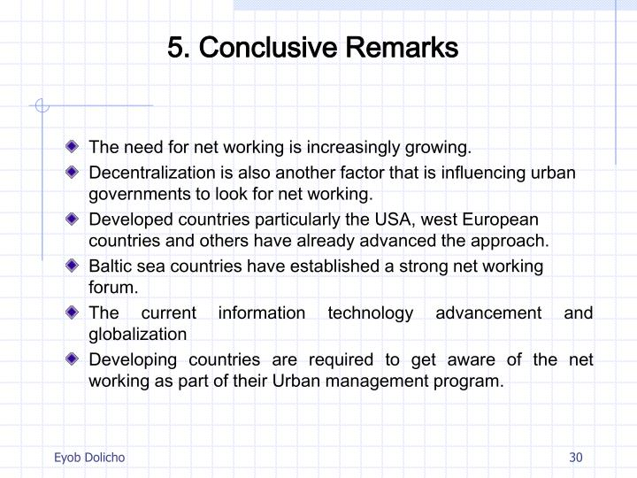 5. Conclusive Remarks