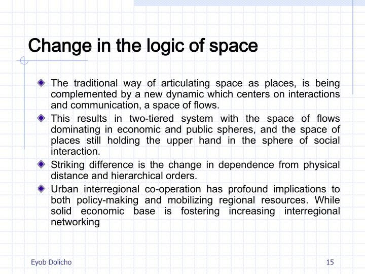 Change in the logic of space