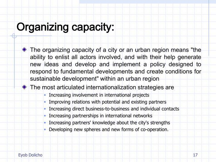 Organizing capacity: