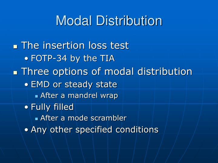 Modal Distribution