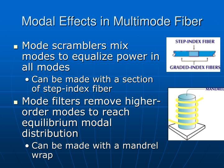 Modal Effects in Multimode Fiber