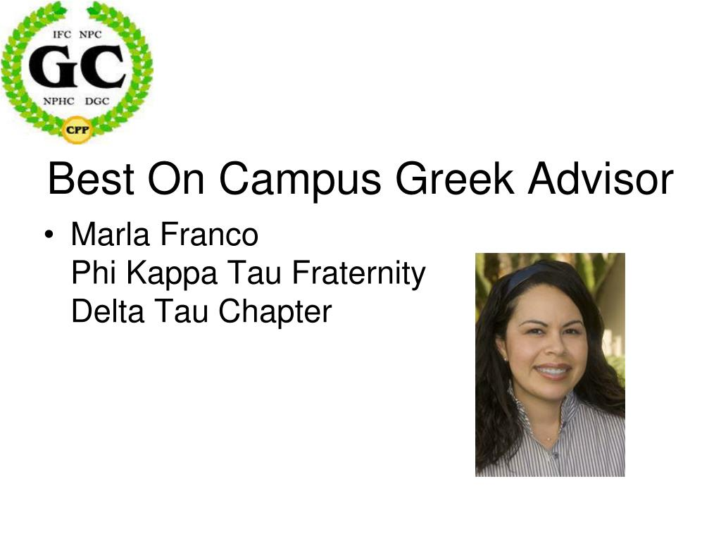 Best On Campus Greek Advisor