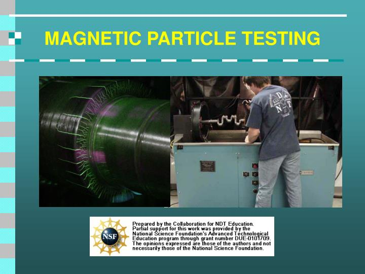 magnetic particle testing n.