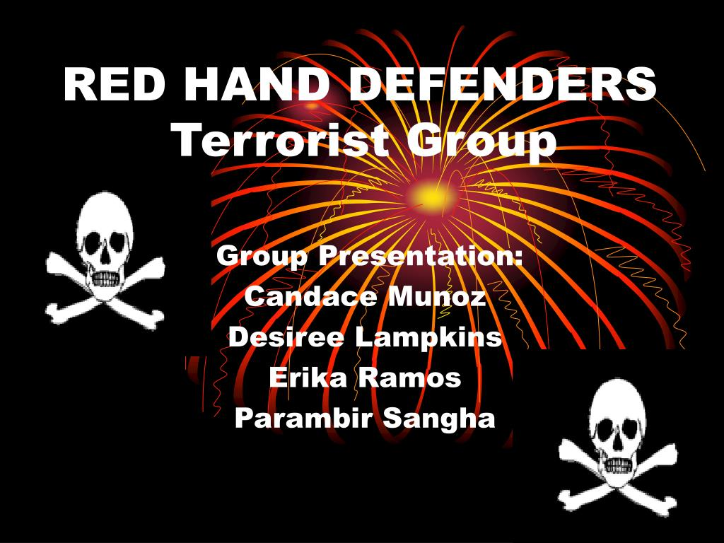 red hand defenders terrorist group l.