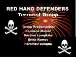 red hand defenders terrorist group
