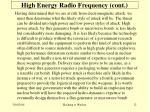 high energy radio frequency cont