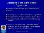 according to the world health organization