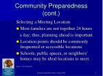 community preparedness cont