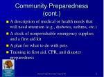 community preparedness cont12