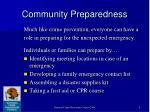 community preparedness