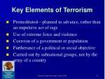 key elements of terrorism