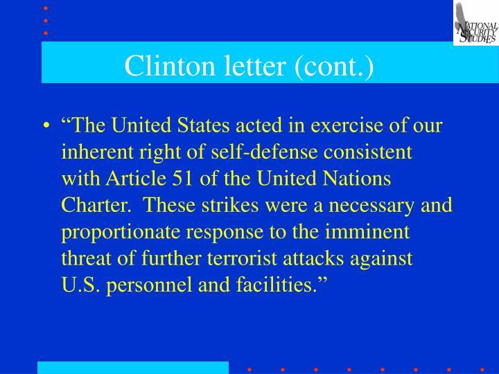 Clinton letter cont
