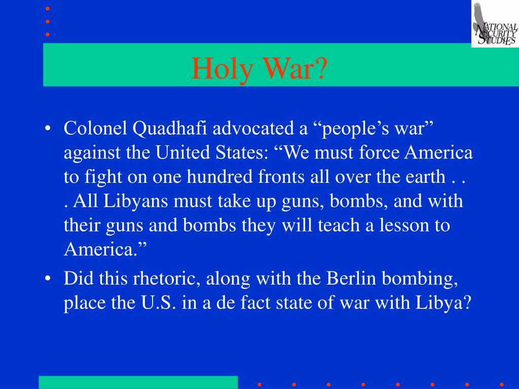 Holy War?
