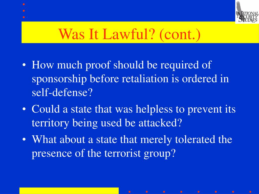 Was It Lawful? (cont.)