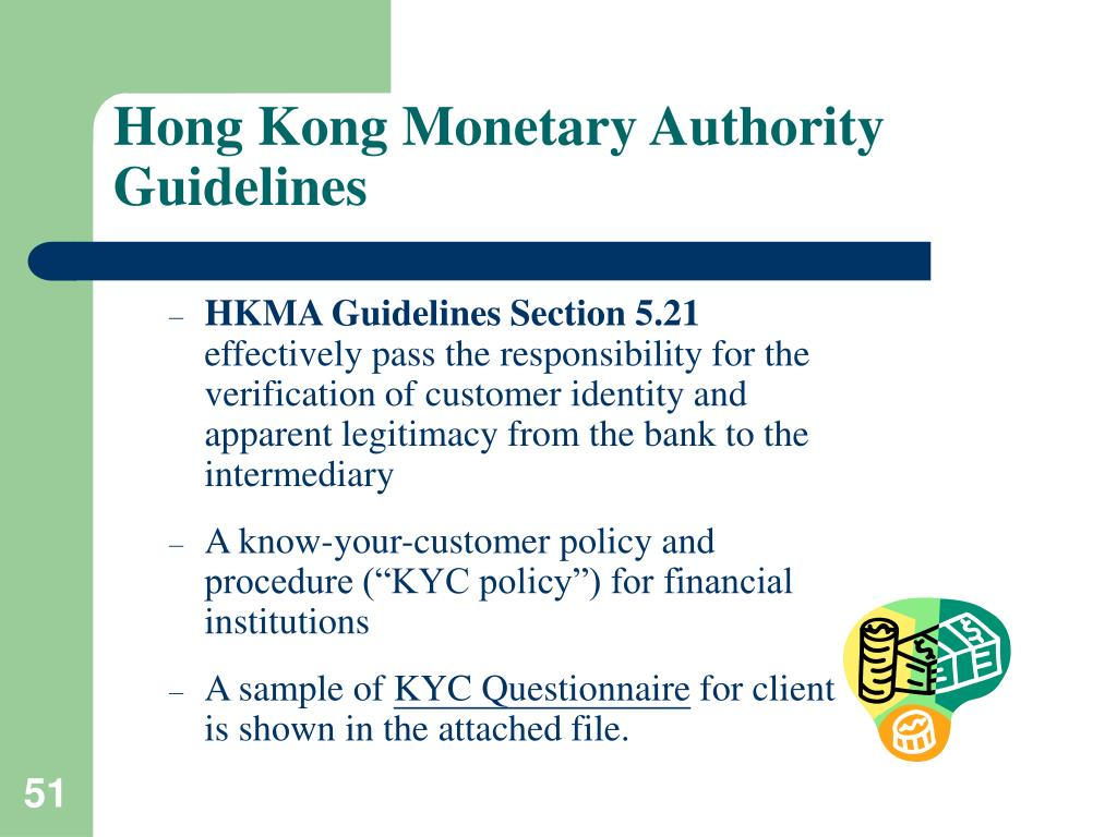 Hong Kong Monetary Authority Guidelines