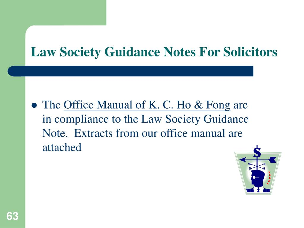 Law Society Guidance Notes For Solicitors
