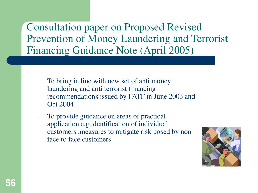 Consultation paper on Proposed Revised Prevention of Money Laundering and Terrorist Financing Guidance Note (April 2005)