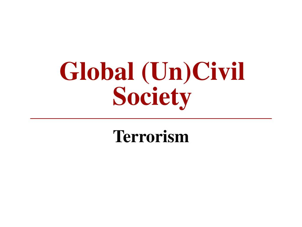 global un civil society l.