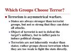 which groups choose terror